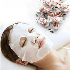 100 X DIY Face Facial Mask Cotton Paper Skin BeautyCare
