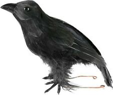 Fake Stuffed Halloween Black Crow Bird Prop Raven Artificial Faux Decoration