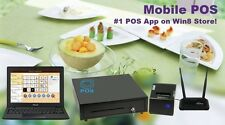 """Complete Windows 8 #1 POS App 11.6"""" Touchscreen for Coffee Shop Bar Food Truck"""
