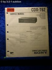 Sony Service Manual CDX T62 CD Changer (#3479)