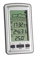 WIRELESS WEATHER STATION TFA 35.1079 AXIS THERMO HYGROMETER RADIO CLOCK