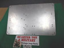 Jeep Willys M38 M38A1 M170 Master Data plate mounting plate for dash