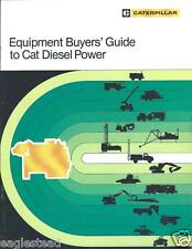 Equipment Brochure - Caterpillar - Buyer Guide Diesel Power  (E2740)