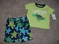 Carters Baby Boy Turtle Swim Shorts Shirt Set Size 24 Months 24M NWT NEW Clothes