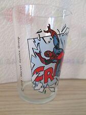 verre à moutarde - SPIDERMAN passant par une vitre - 1978 - Marvel Comics Group