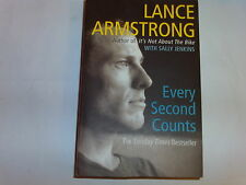 LANCE ARMSTRONG - EVERY SECOND COUNTS cycling  a must read  P/B