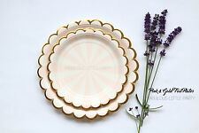 16 Blush and Gold Dessert Plates, Gold Plates, Pink Gold Paper Plates Cake