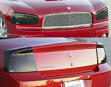 06-08 Dodge Charger Smoke GTS Acrylic Headlight Taillight Covers 4pc Protection