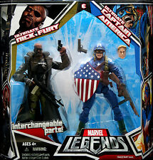 Marvel Leyendas Ultimate Nick Fury Y Capitán América 2 Pack