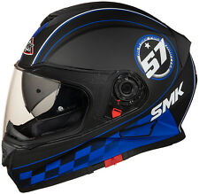 SMK Helmets - Twister - Blade Black Blue- Full Face Dual Visor Motorcycle Helmet