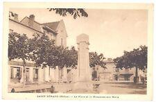 CPA 69 - SAINT VERAND (Rhône) - La Place et le Monument au Morts