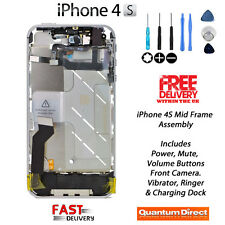Complete Fully Assembled Mid Frame Housing Assembly with All Parts iPhone 4S 4GS
