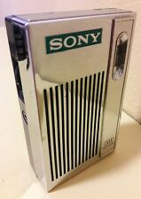 VINTAGE Sony AM Transistor Radio Functional Solid State Chrome Pocket Size 2R-31