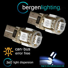 2x W5w T10 501 Canbus Error Free Blanca 5 Led sidelight Laterales Bombillos sl101303