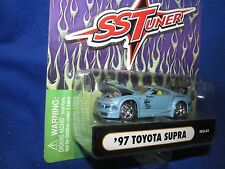 97 TOYOTA SUPRA muscle machine Import tuner 1/64 lt blue  furious street race
