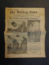 The Hockey News August 1954 Vol.7 No.34 Lach T Kennedy J Thomson Dumart Aug '54