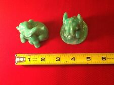 """2pcs Lucky Rising Elephant Statue """"Trunk Up For GOOD LUCK"""" Home Lucky Decor"""