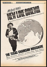 THE TEXAS CHAINSAW MASSACRE__Original 1983 Trade AD / poster__movie promo advert
