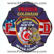 Pagosa Fire Department 9-11 Never Forget Patch Colorado CO