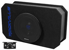 "Rockville RMW8A 8"" 800 Watt Ported Powered Truck Subwoofer In Slim Enclosure"