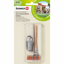 New Schleich 42128 - 3pc Horse Stable Cleaning Set - FREE UK DELIVERY !
