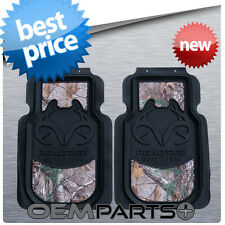 2X REALTREE FRONT FLOOR MATS CAMOUFLAGE AP CAMO TRUCK SUV CAR PAIR SET USA