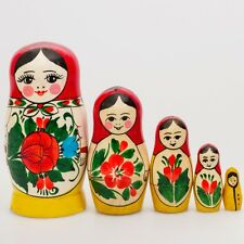 Russian Semenov Nesting dolls Matryoshka set 5 pcs. Hand painted in Russia 4.5''