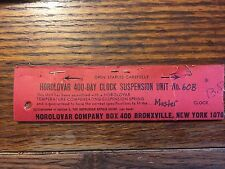 HOROLOVAR 400 DAY SUSPENSION UNIT MASTER 60B NEW OLD STOCK Lot 441