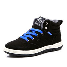 Men's Winter Warm Fur Lining low Top Lace up Ankle Boot Snow Shoes Sneaker