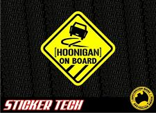 WARNING HOON HOONIGAN ON BOARD STICKER DECAL TO SUIT SPORTS CAR RALLY DRIFT JDM