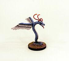 28mm Pro-Painted Classic Monster-VNT27 Winged Serpent-Quetzalcoatl-Scenic Base