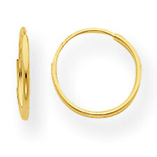 14K Yellow Gold Small Hollow 8mm Endless Hoop Earrings Madi K Children's Jewelry