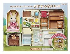 Calico Critters Sylvanian Families Hopscotch Rabbit Mother and Furnitures Set