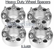"""4 Wheel Spacers 6x139.7 2"""" Adapters Fits Chevy Avalanche Express Blazer C1500"""