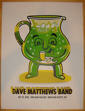 Dave Matthews Band Poster 2006 Maryland MO Green Kool Aid Signed Artist Proof