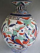 Important vase de 38 cm à décor Iznik d' Henri Delcourt à Boulogne sur mer
