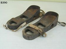 VINTAGE CAST IRON OLD WEIGHT LIFTING SHOES BOOTS GYM EXERCISE FITNESS DUMBBELLS
