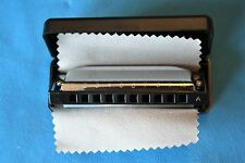 Echosonic Diatonic Harmonica with Case and Cleaning Cloth in the Key of A, EH-A