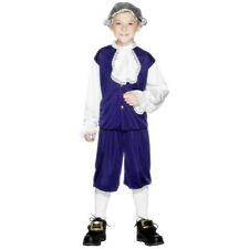 Smiffy's Children's Blue Colonial Boy Child Costume Size Small Ages 3-5