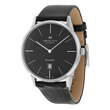 Hamilton Intra-Matic Automatic Black Dial Mens Watch H38755731