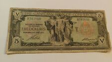 1917 Canada $5 Five  Dollars Canadian Bank of Commerce Note. A593840 Large Note