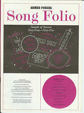 Armed Forces Song Folio; Mar 1965; Music & Lyrics for 8 Songs (See Description)