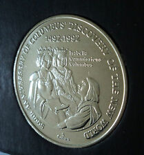 1991 The Turks & Caicos Islands Christopher Columbus 5 Crown Coin Gift in Case