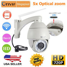 Wireless Wifi PTZ 5 Zoom IR-Cut HD P2P IP Camera Onvif Outdoor Waterproof Sricam