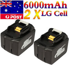 2 X 6000mAh MAKITA LI-ION Battery 18V 6.0Ah BL1830 BL1835 Power Tool AU LATEST