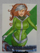 ROGUE X-MEN 2014 ORIGINAL CAPTAIN AMERICA WINTER SOILDER MARVEL SKETCH CARD