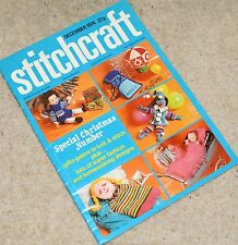 Stitchcraft Magazine 1974 Tweed Knit Cable Twinset Doll Accessories Crochet Cush