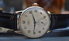 SMITHS DE LUXE 9CT GOLD GENTS VINTAGE WATCH MADE IN ENGLAND c1950's-NICE PIECE!
