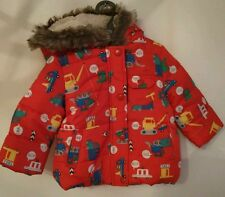 Mothercare boys outerwear red puff coat, aged 6-9 months