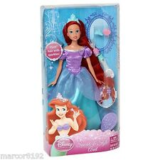 Disney Sparkling Princess Doll Sparkle & Style Ariel The Little Mermaid New